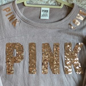 Pink Victoria Secret Sequin Top